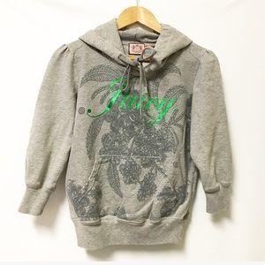 Juicy Couture Pullover hoodie sweatshirt gray MED